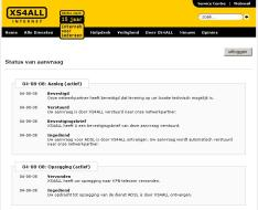 Voortgang omzetting naar XS4ALL ONLY volgen via de website