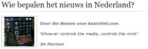 Wie bepalen het nieuws in Nederland?