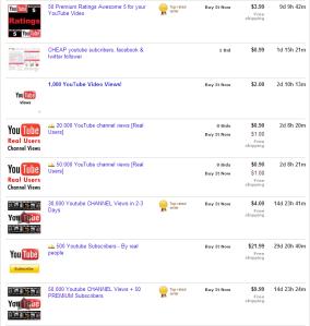 Youtube op eBay