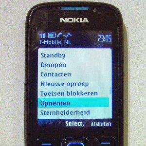 Telefoongesprek opnemen met Nokia GSM