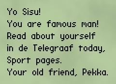 Nokiagame: SMS van Pekka