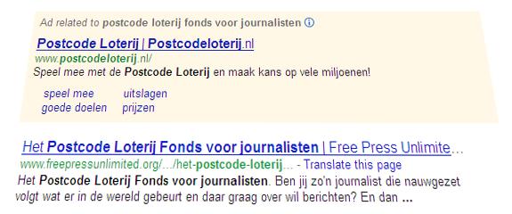 Postcode Loterij Fonds voor journalisten