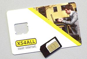 XS4ALL SIMkaart met adapter
