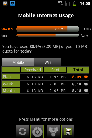 3G Watchdog na 1 Ookla test
