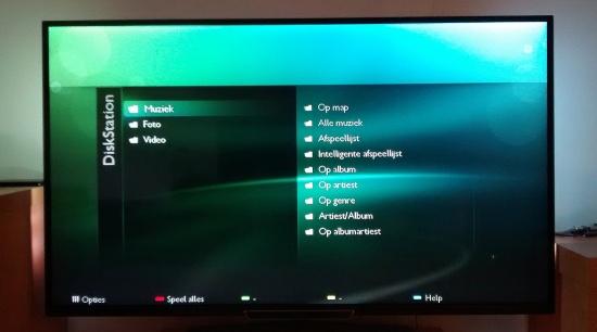 Smart-TV herkent Diskstation
