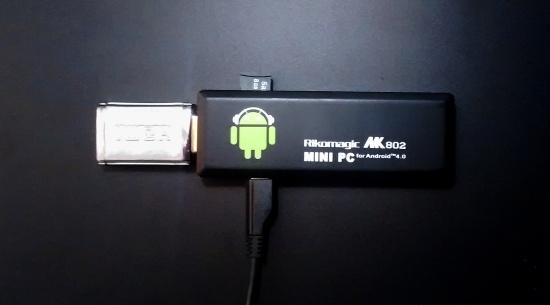 MK802 met Ubuntu op een micro-SD-kaartje
